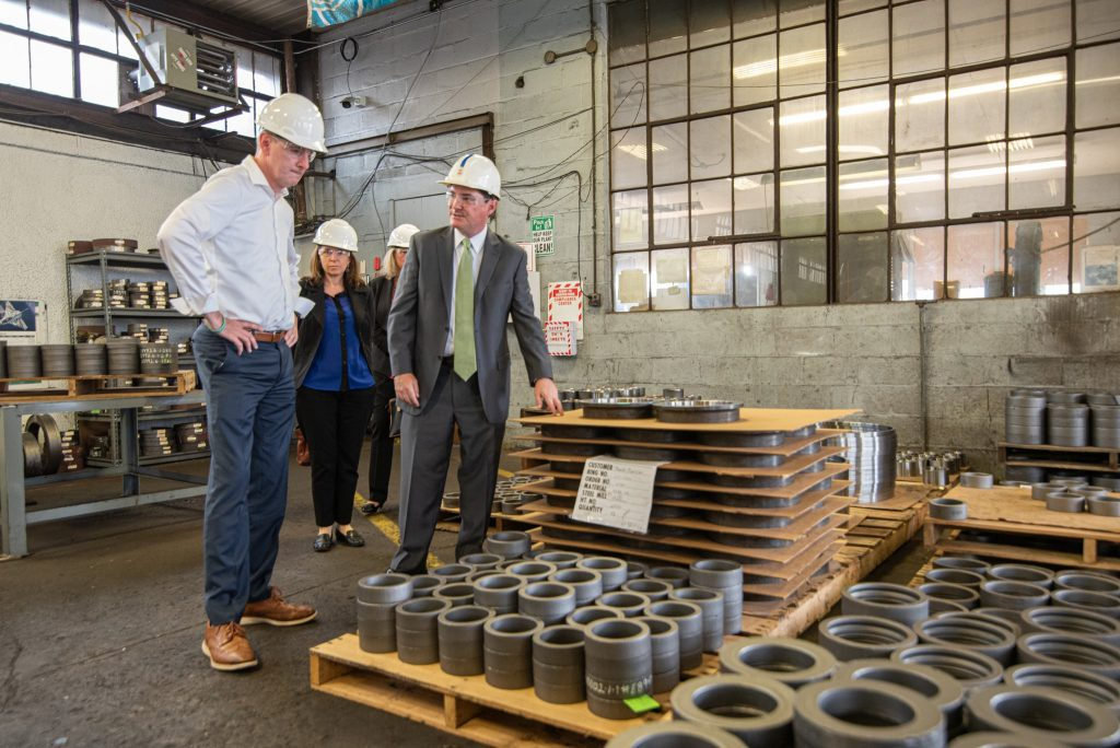 rep fitzpatrick at the specialty ring facility